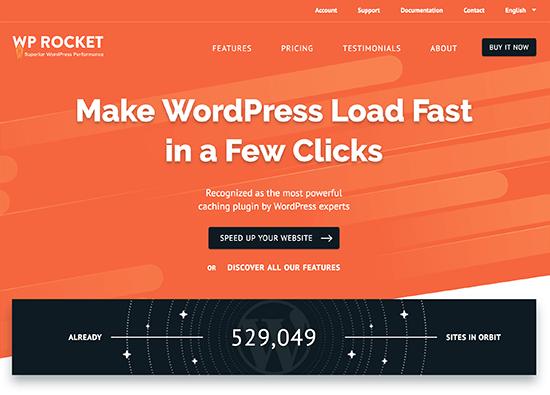 إضاف WP Rocket لتسريع الموقع